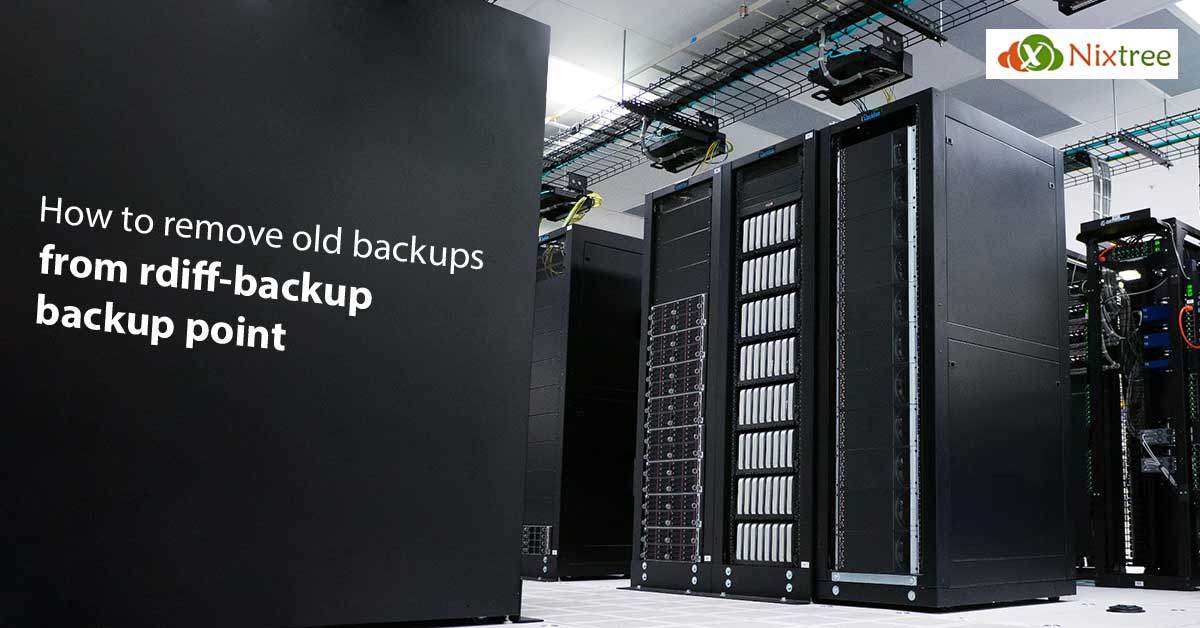 Remove old backups from rdiff