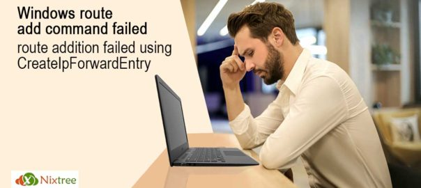Windows route add command failed route addition failed using Create Ip Forward Entry