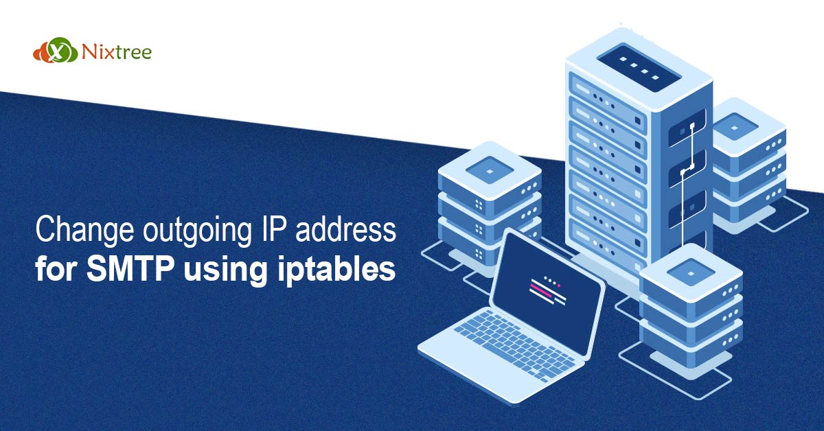 Change outgoing IP address for SMTP using iptables