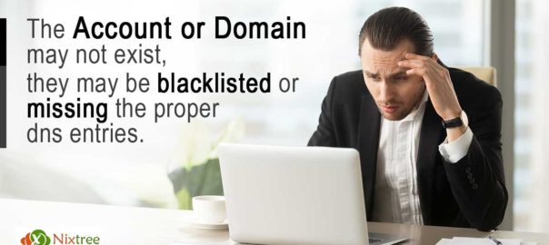 Email Delivery Issue: The account or domain may not exist, they may be blacklisted