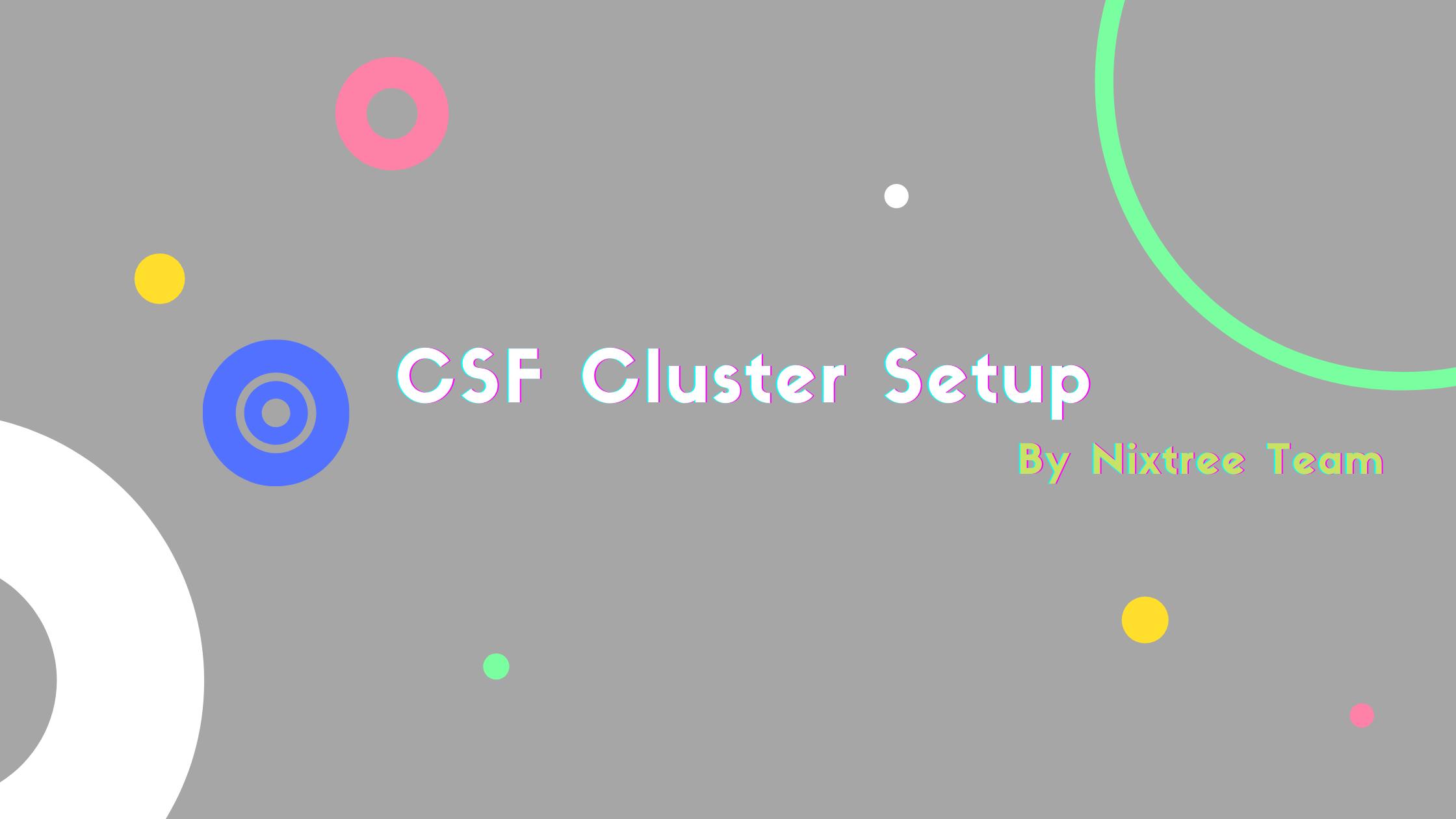 CSF cluster setup